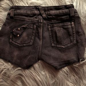 TRIPP NYC purple/black acid wash cutoffs